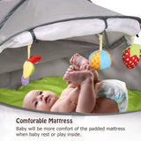 Kinbor Baby Travel and Play Tent Pop-Up Indoor & Outdoor Canopy Fun Tent with UV Protection for Infants and Toddlers