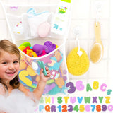 "Tub Cubby Bath Toy Organizer + Baby Rubber Ducky - 14""x20 Mold Resistant Mesh Net Basket - 3 Soap Shampoo Dividers - Keeps Kids Bathtub Games Dry - Suction & Sticker Hooks Shower Caddy Storage Bin Set"