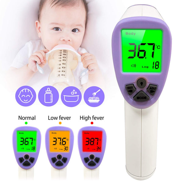 Forehead Thermometer, Non-Contact Digital Infrared °F/°C Digital Medical Body Thermometer for Baby Adults and Kids, Indoor and Outdoor Thermometer for Fever Flu