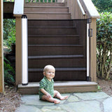 "Baby Gate Indoor Outdoor Retractable Baby Gate 35"" Tall Extends up to 55"" Wide- Suitable for Room Doors Stairs and More for Easy Installation and Disassembly with Safety Locks Baby Safety Gate"