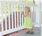 "Kidkusion Deck Guard - 30' L x 34"" H - Made in USA - Outdoor Balcony and Stairway Deck Rail Safety Net - Clear - Child Safety; Pet Safety; Toy Safety"