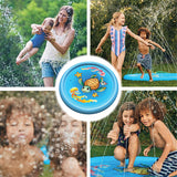 "(68"") Inflatable Splash Sprinkler Pad for Kids Toddlers Dogs, Kiddie Baby Pool, Outdoor Water Mat Toys - Baby Infant Wading Swimming Pool - Fun Backyard Fountain Play Mat for 1 -12 Year Old Girls Boys"