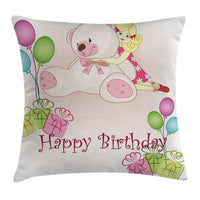 Nursery Birthday Throw Pillow Cases Cushion Covers Home Decor 8 Sizes