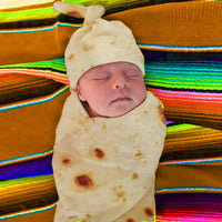 baby wrap Burrito Baby Blanket Flour Tortilla Swaddle Blanket Sleeping Swaddle Wrap Hat burrito swaddle
