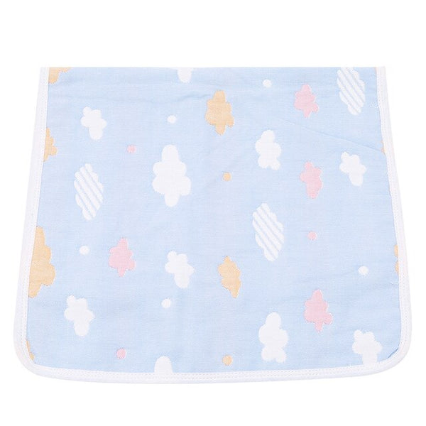 Newborn Baby Soft Cotton Gauze Pillow Case Cartoon Breathable Sleeping Towel Six Layers Gauze
