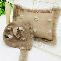 2 Pcs/set Posing Beanbag For Newborn Photography Props Pillows+Hat Flokati Basket Filling Accessories Baby Photo Shooting Studio