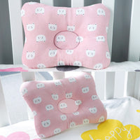 Muslinlife Head Protection Baby Cartoon Pillow Bedding Sleep Baby Pillow Kids Square Cotton Pillow Room Decoration Dropship
