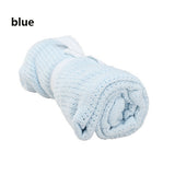 Newborn Baby Blankets Super Soft Cotton Crochet Summer Candy Color Prop Crib Casual Sleeping Bed Supplies Hole Wrap