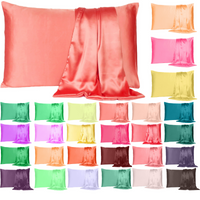 Silky Pure Satin Pillowcase for Hair Pillowcases Housewife Queen Standard 1 Pc