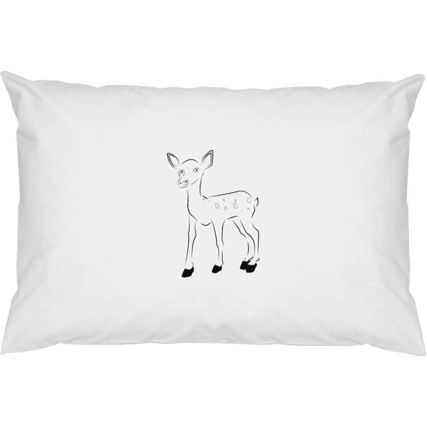 2 x 'Baby Deer (Fawn)' Cotton Pillow Cases (PW00013046)
