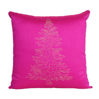 Cover Solid Color Sofa Pillow Case Cushion Square Christmas Tree Pattern 18x18