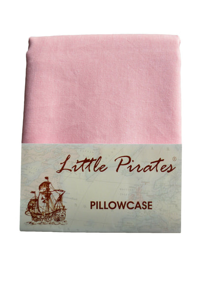 Brand New Baby Cot Bed Pillow Case 60 x 40 - 100% Cotton in Pink