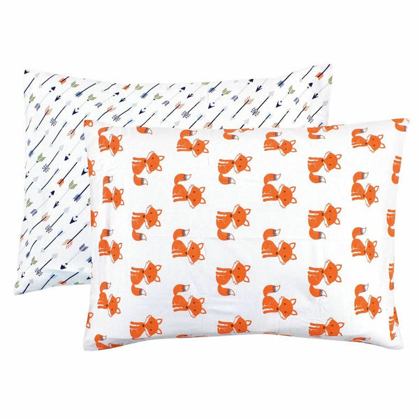 Hudson Baby Envelope Toddler Pillow Case 2pk, Foxes, One Size