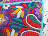 Vintage Cotton Cushion Cover Embroidered Applique Patchwork Pillow Case