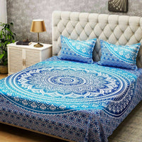 Indian Mandala Bedding Set Queen Tapestry Bed Sheet Bedspread Cotton Pillow Case