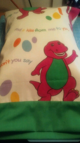 Barney Baby Toddler Child Pillow Case FITS a 12 X 16 TRAVEL pillowcase