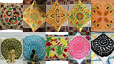 New Indian Art Handmade Cotton Suzani Pair-Pillow-Case Cushion Cover Sofa Decor