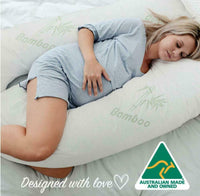 9ft U-Shaped Bamboo Pillow Total Body Comfort in Pregnancy Maternity Nursing