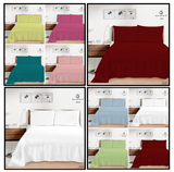 Plain Dyed Flat Sheets or Pillowcases Single Double King All Sizes