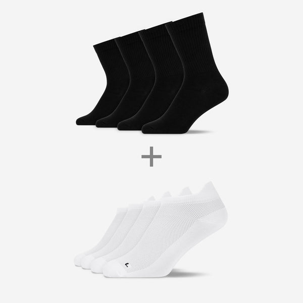 Sport Bundle | 4x Tennissocken & 4x Laufsocken
