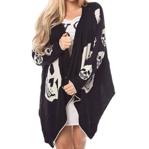 Halloween Sexy Printed Skull Leisure Cardigans