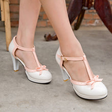 Cute Bow-Knot High Heel Ladies Shoes