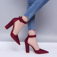Fashion Pure Color Pointed Toe Sandals Shoes
