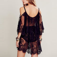 Bohemia Sexy Lace Hollow Beach Sun Protection Shirt