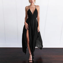 Elegant Pure Color Short Sleeves Maxi Dress