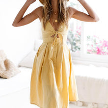 Sexy Elegant Sleeveless Pure Color Maxi Dress