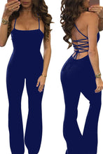 Sexy Elegant Lace-Up Backless Jumpsuit