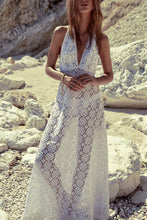 Beach Sleeveless Lace Vacation Maxi Dress
