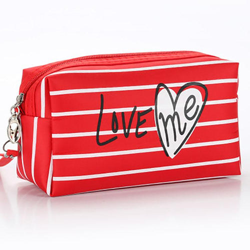 Love Stripe Cosmetic Bag