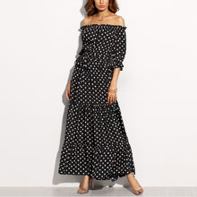 Sexy Off Shoulder Haif Sleeves Maxi Dress