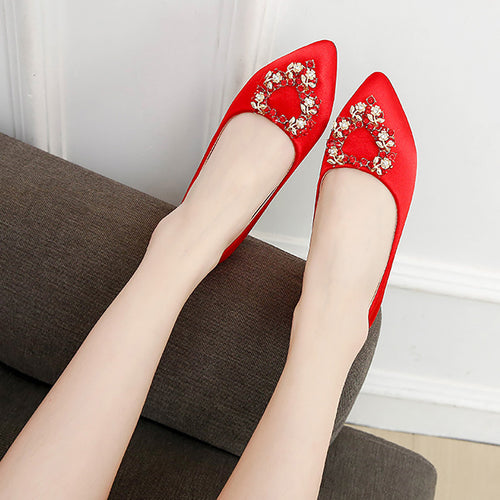 Elegant Beading Fashion Mueller Shoes