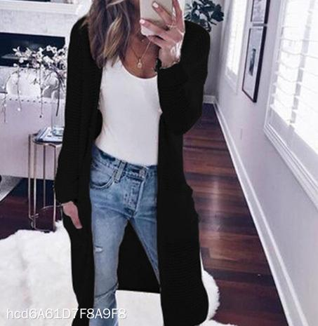 Casual Long Sleeve Solid Color Cardigan
