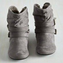 Plain  Flat  Velvet  Round Toe  Casual Outdoor Flat Boots