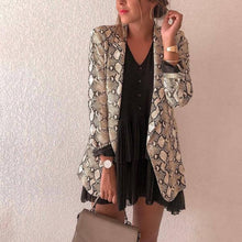 Fashion Snake Print Blazer