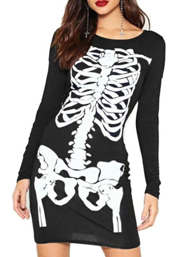 Halloween Skeleton Party Costumes Dresses