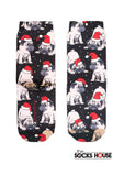 Puppy Christmas Print Socks