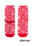 Red Ho ho Ho Christmas Print Socks