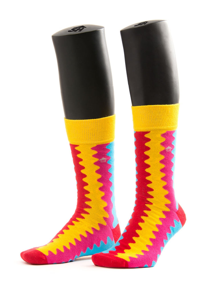 Colored Waves Design Socks