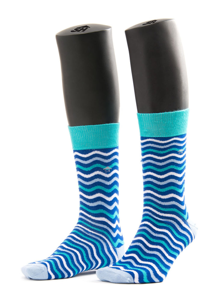 Blue Waves Design Socks