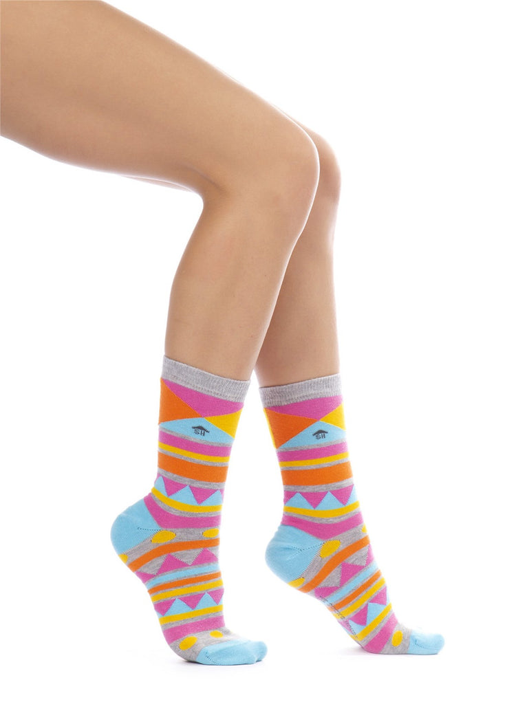 Colored Geometrical Shapes Design Socks