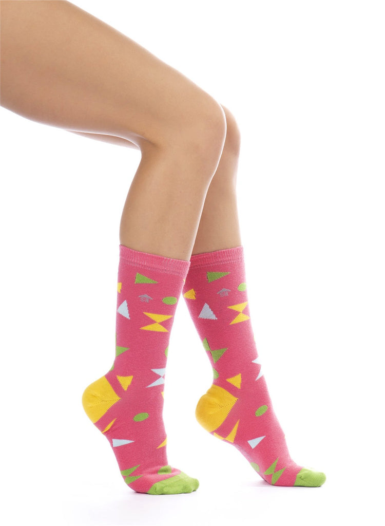 Triangles and Dots Design Socks
