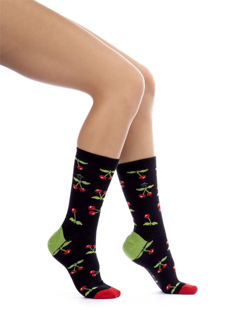 Cherry Design Socks