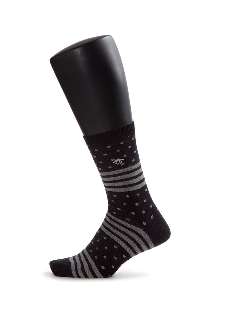 Stripes and Dots Design Socks