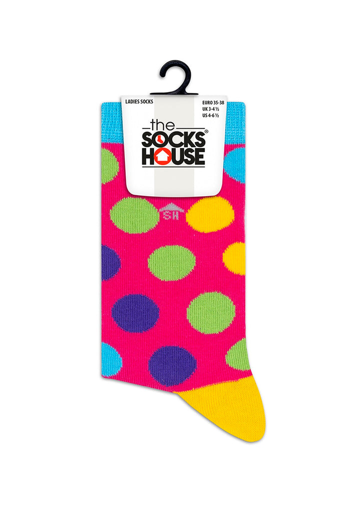 Colorful Cross Dots Design Socks