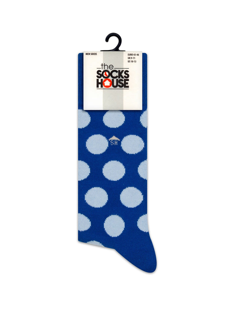 Blue Dots Design Socks