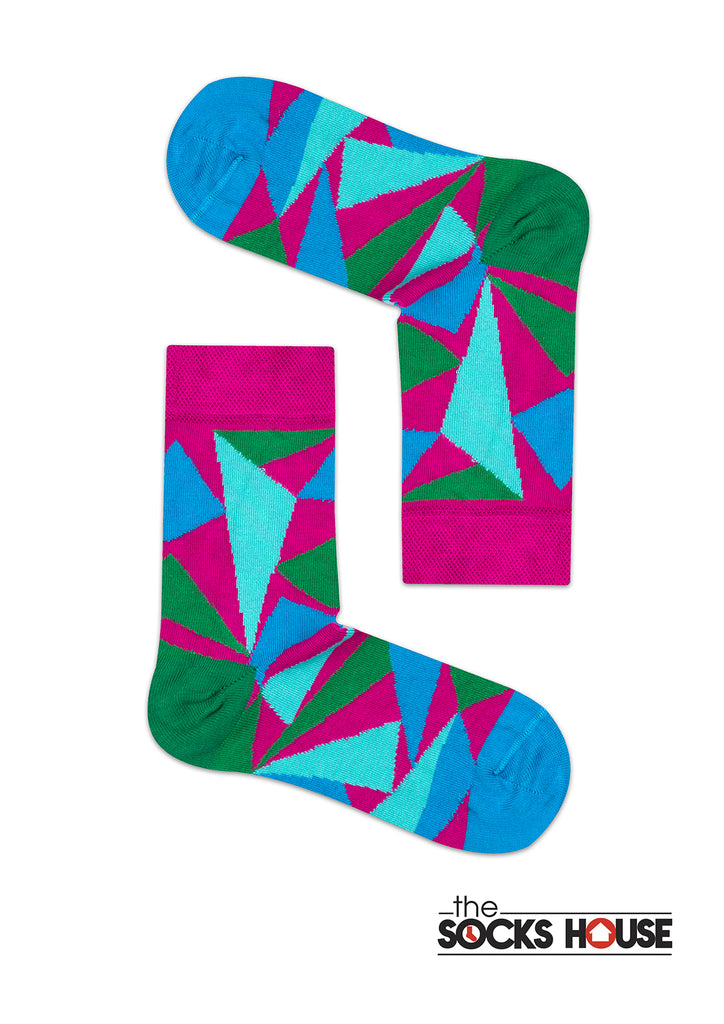 Triangle Design Socks